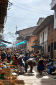Indian market in the northern Andes of Peru — Stock Photo
