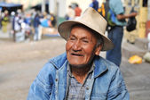 Old man at the local market in Northern Peru — Stock Photo