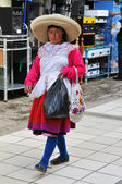 Traditional woman from the Northern Andes of Peru — Stock Photo