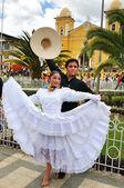 Marinera dancers in Cajabamba — Stock Photo