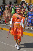 "Peruvian folklore dance ""Los Diablos"" in Northern Peru — Stock Photo"