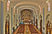 Church interior in the Northern Andes of Peru — Stock Photo