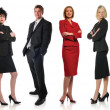 Group of businesspeople standing — Stock Photo
