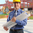Portrait of engineer at contruction site — Stock Photo