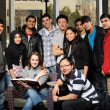 Royalty-Free Stock Photo: Diverse Group of Students in College Campus