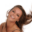 Young Woman flipping her hair — Stock Photo