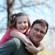 Stock Photo: Father and Daugther Having Fun