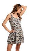夏のドレスを着た若い女性 — ストック写真
