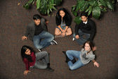 Diverse Group of Students smiling — Stock Photo