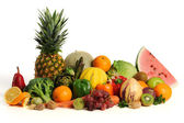 Group of asorted fruits and vegetables — Stock Photo