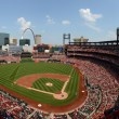 Постер, плакат: ST LOUIS JULY 07: A baseball game at Busch Stadium between th