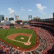 Stock Photo: ST. LOUIS - JULY 07: baseball game at Busch Stadium between th