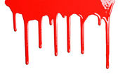 Red dripping paint — Stock Photo