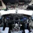 Stock Photo: Airplane cockpit of 737-800