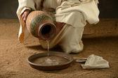 Jezus z dzbanem wody — Zdjęcie stockowe