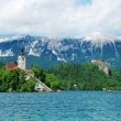 Stockfoto: Bled lake landscape in Slovenia
