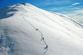 Alpinists climbing a mountain — Stock Photo