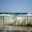 Splash of breaking waves, MediterraneSea — Stock Photo #15346515