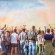 Celebrants at the color Holi Festival — Stock Photo