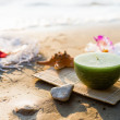 Stock Photo: One candle at sea
