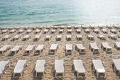 Beach chairs on the beach — Stock Photo