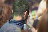 The color Holi Festival — Stock Photo