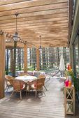 Open air restaurant — Stock Photo