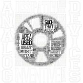 Picture of disk made of text — Stock Photo