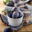 Blue plums — Stock Photo