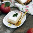 Cottage cheese pie with apples - Stock Photo