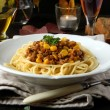 Italian spaghetti dinner — Stock Photo #14072335