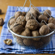 Walnuts in a basket — Stockfoto