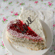 The cake for St. Valentine's Day — Stock Photo