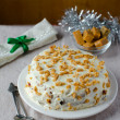 The traditional Christmas cake with tots — Stock Photo