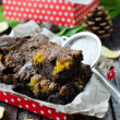 Stock Photo: Brownie with lemon Kurdish