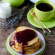 Pancakes with cottage cheese — Foto Stock