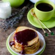 Pancakes with cottage cheese — Foto de Stock
