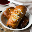 Rolls of home cooking with cheese — Foto Stock