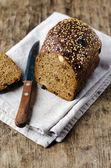 Pan de centeno con nueces y pasas — Stok fotoğraf