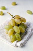 White , moschatus grapes — Foto Stock