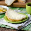 Bread and butter for Breakfast — Stock Photo