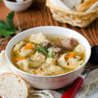 Soup with meat dumplings - Photo