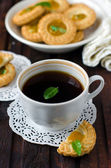 Breakfast, coffee and biscuits — Foto Stock