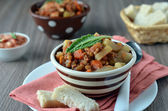 A stew of lentils and vegetables — Stock Photo