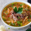 Soup with tomatoes and meat — Foto de Stock