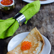 Pancakes with red caviar — Stock Photo #19488227