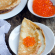 Pancakes with red caviar — Stock Photo #19489089