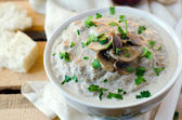 Mushroom soup-puree — Stock Photo