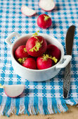 A bunch of fresh raw red radishes — Stock Photo