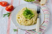 Spaghetti with sauce — Stock Photo